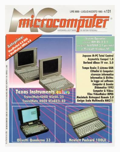 copertina del numero di MC Microcomputer con la recensione dell'Olivetti Quaderno