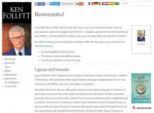 Il blog ufficiale di Ken Follet, famoso autore di best-seller