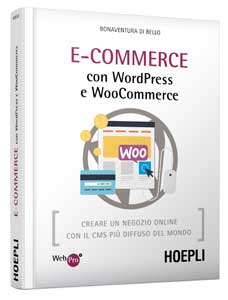 "copertina 3d libro ""Ecommerce con WordPress e WooCommerce"""