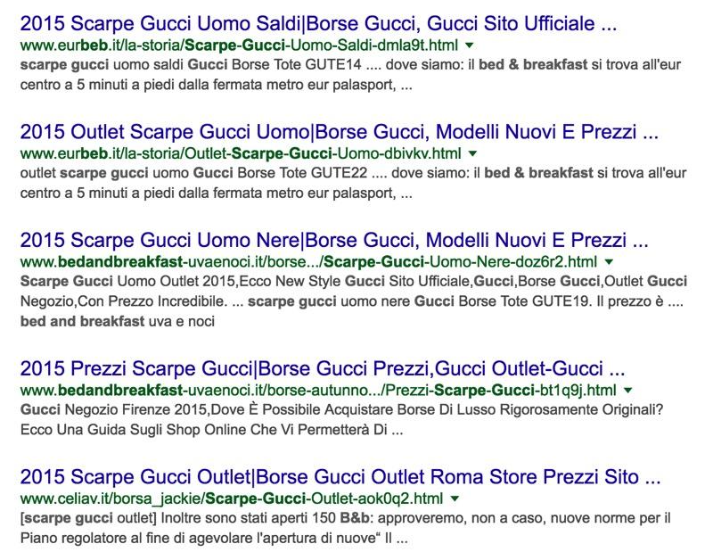 Un esempio di siti infettati da codice per creare finti e-commerce a scopo fraudolento, rilevati con una semplice ricerca su Google